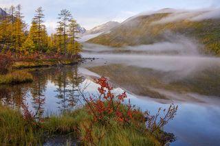 Осенне утро на Невидимке.
